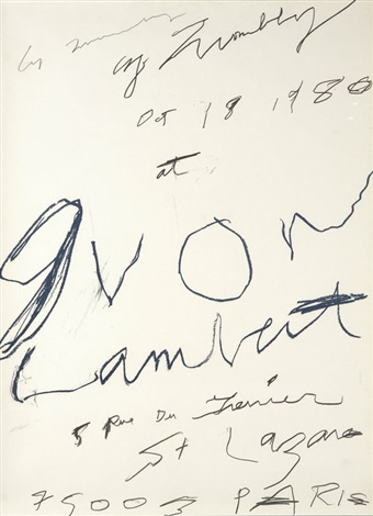 cy twombly at yvon lambert by cy twombly