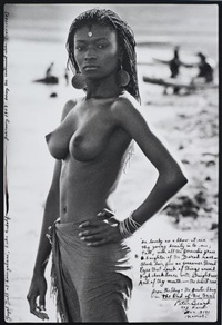 fayel tall at loingalani, lake rudolph, kenya, february by peter beard
