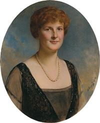 bildnis einer dame mit perlenkette by heinrich von angeli