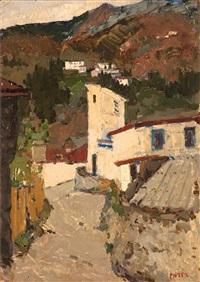 village scene by maria-mela muter