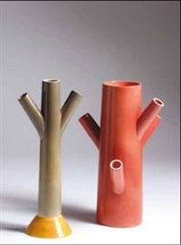 tronchi vases (2 works) by anna gili