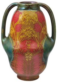 vase with two leaf handles decor by sandor apati abt