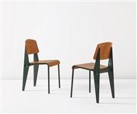 demountable semi-metal chairs, model no. 300 (pair) by jean prouvé
