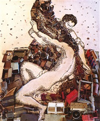 icarus, after titian (pictures of junk) by vik muniz