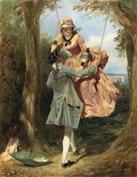 the swing by edward henry corbould