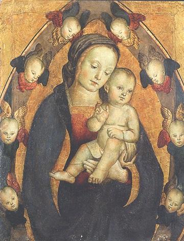 madonna col bimbo e gloria de serafini by antonio massari da viterbo