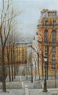rue foyatier à paris (+ 2 others; 3 works) by andré renoux