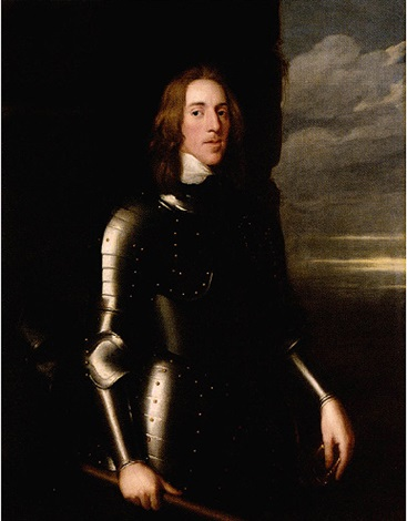 portrait of sir richard ingleby wearing armour, his helmet beside him, a baton in his hand by john hayls