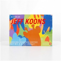 espresso set including six cups and six saucers in original box from the jeff koons illy collection by jeff koons
