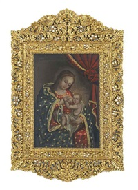 la virgen de belén con el santo niño (the virgin of bethlehem with holy child) by peruvian school-cuzco