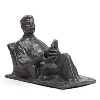 portrait bust of maxim gorky by il'ya yakovlevich gintsburg