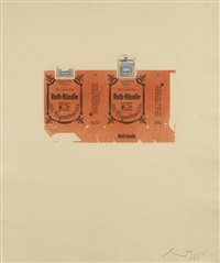 roth-händle ii (brown); (crimson); (orange) (3 works) by robert motherwell