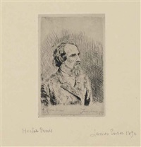 portrait de hector denis by james ensor