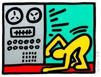 untitled, plate iv (from pop shop iii) by keith haring