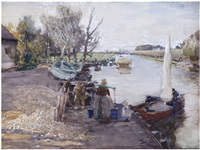 a dutch riverbank by hans herrmann