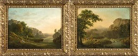 paysages antiques animés (pair) by maximilien lambert gelissen