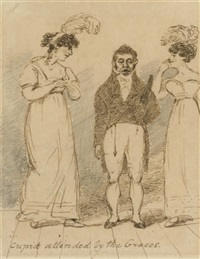 caricature of george chinnery by charles (sir) d'oyly