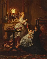 amusing the baby by pieter willem sebes
