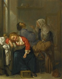 tickled sleep (bordello scene with sleeping couple) by jacob duck