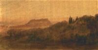 nice, le château vu depuis cimiez by joseph fricero