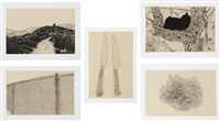 coyote stories (set of 10 works) by chris burden