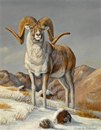 snow sheep (+ 2 others; 3 works) by gary r. swanson