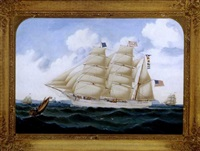 american ship 'anglo saxon' by william gay yorke