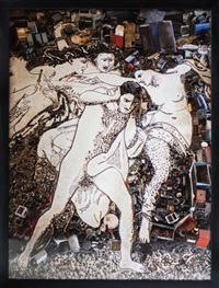 orestes pursued by the furies, after adolphe william bourguereau (from pictures of junk) by vik muniz
