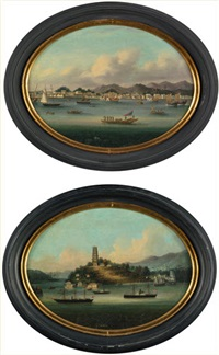 two port views, amoy and fuchow (2 works) by anonymous (19)