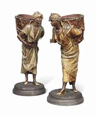 figures of arabs with paniers by louis hottot