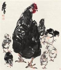 子母鸡图 by huang zhou