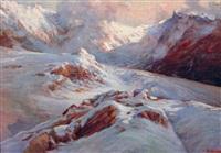 sommets et glacier en haute montagne by licinio barzanti