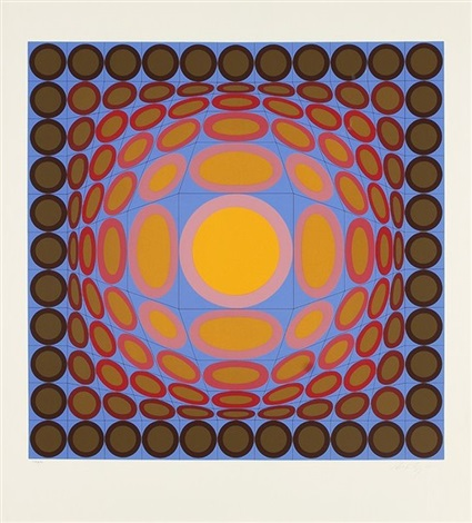 composition cynétique by victor vasarely