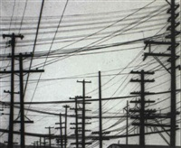 telephone poles, seattle by william heick