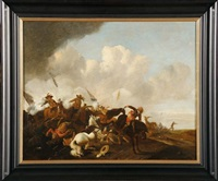 scène de bataille by philips wouwerman