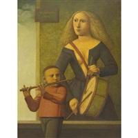 moça com tamboe by reynaldo fonseca