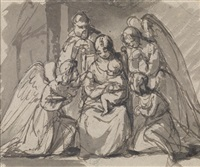 die hl. familie umgeben von engeln by friedrich von amerling