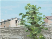 houses with tree by tomory dodge