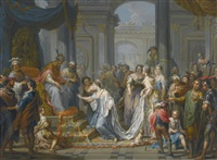 esther before ahasuerus by franz christoph janneck
