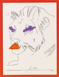 il leone aus der serie: lo zodiaco (sternzeichen) by andy warhol