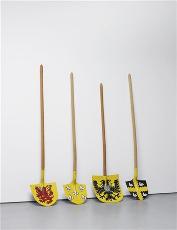 4 shovels (in 4 parts) by wim delvoye