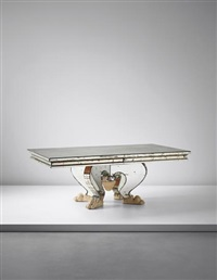 rare and important dining table by serge roche