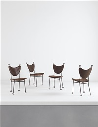yo-yo side chairs (set of 4) by jean royère