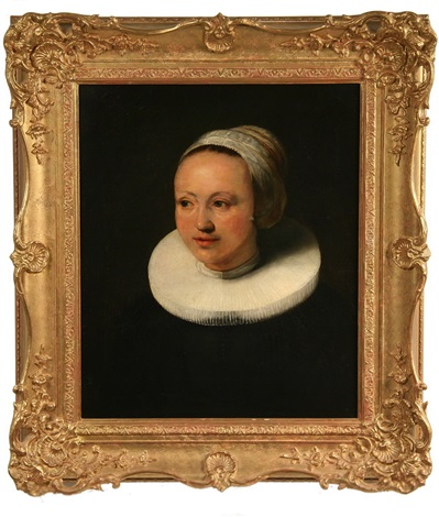 bust portrait of a young woman in ruff collar and bonnet by frans hals the elder