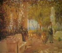 a terrace in capri by horace fisher