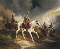 le comte de rugen grosshof à cheval by victor-jean adam