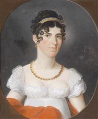 bildnis einer dame in empirekleid und frisur im napoleonischen geschmack by johann lorenz kreul