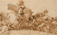 horatius cocles sur le pont sublicius by lazzaro tavarone