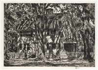 the lion gardiner house, easthampton by childe hassam