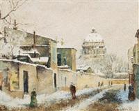 le village de céline sous la neige by lélia pissarro